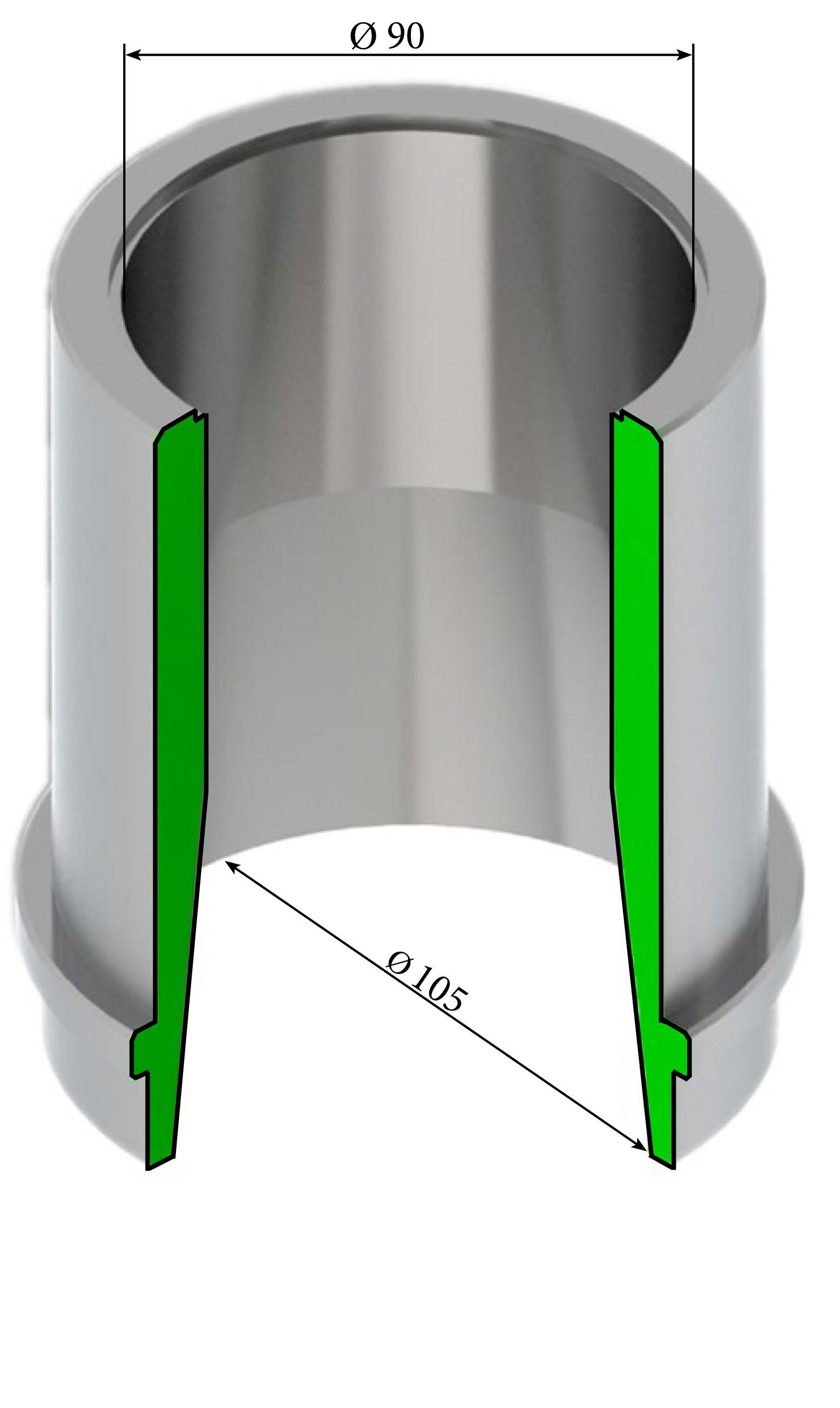 Насадка гидромонитора 100 ГМН 250