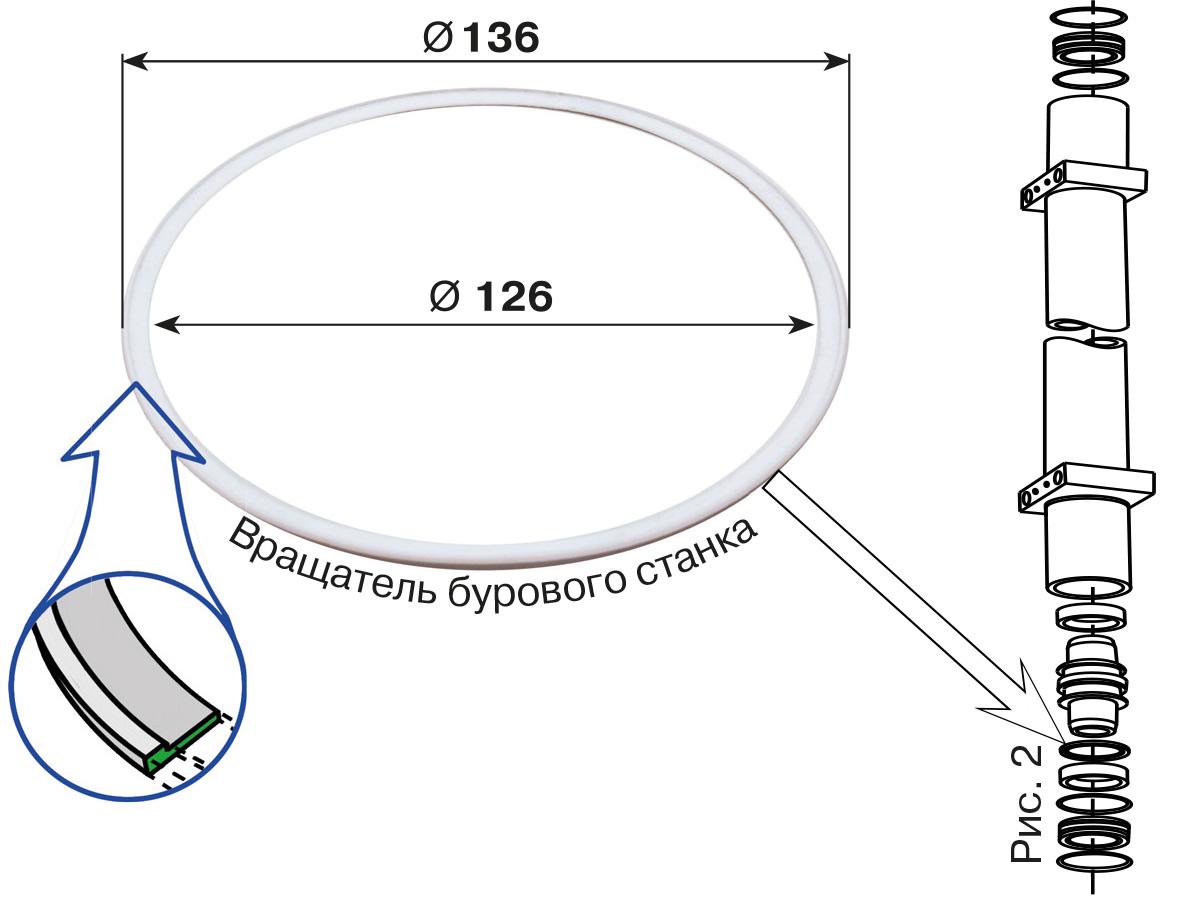 Кольца для Atlas Copco D-262 (фторопласт)