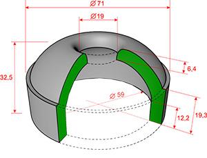 Резинотканевая чашка плунжера для Diamec-262