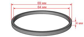 Кольцо фторопластовое прямоугольного сечения для diamec 262