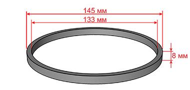 Кольцо резиновое прямоугольного сечения для Diamec-262
