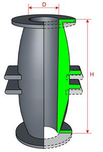 Патрубки предназначены для комплектации шланговых задвижек