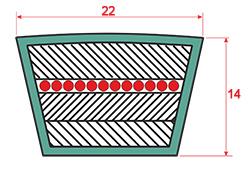 Ремень для дробилки СМД-108