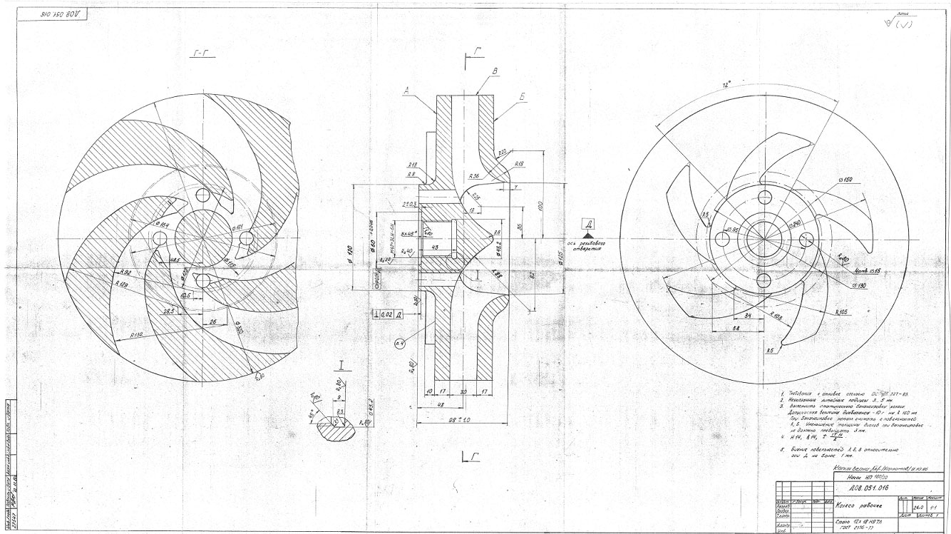 Рабочее колесо для насоса НП 160/20