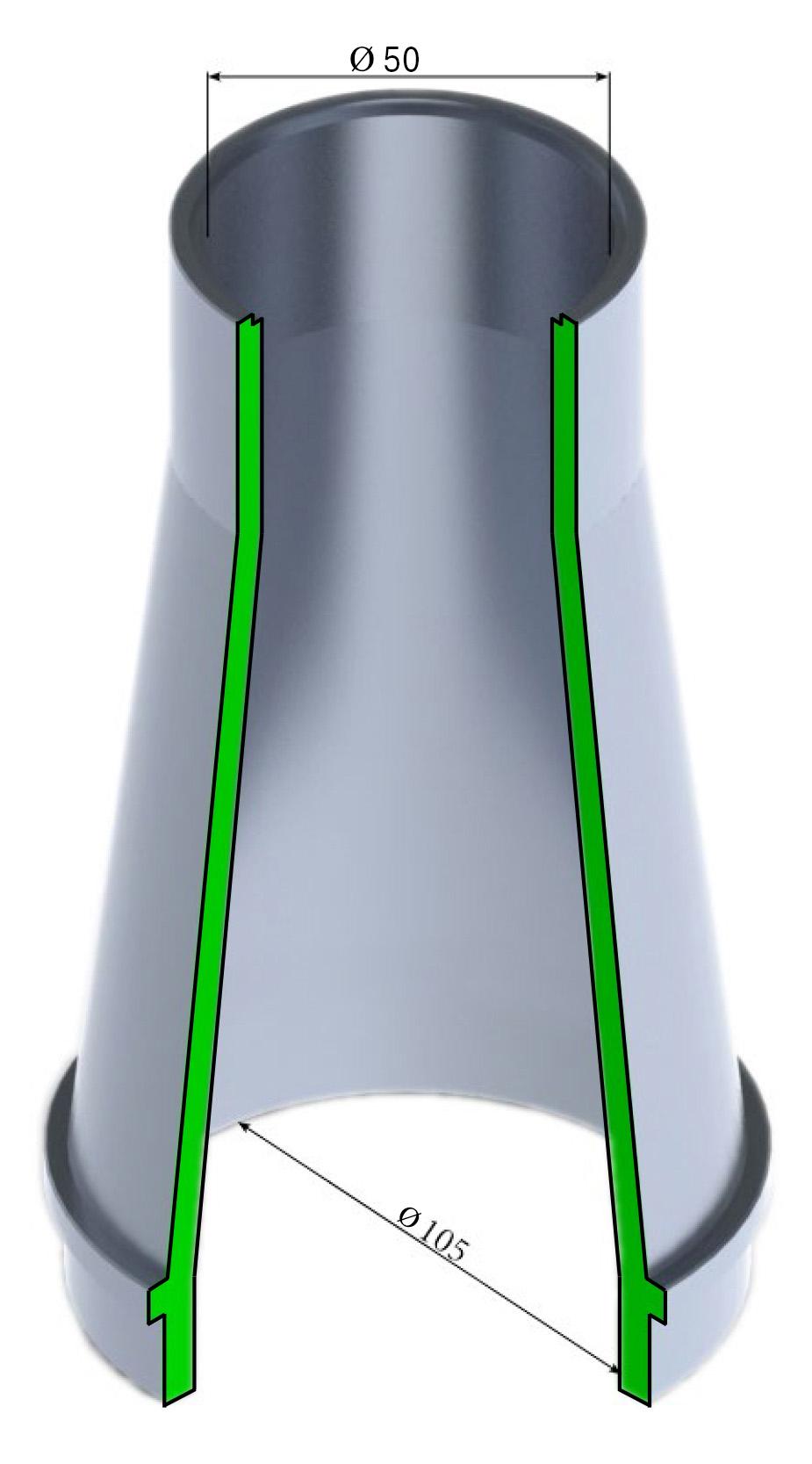 Насадка гидромонитора 50 ГМН 250