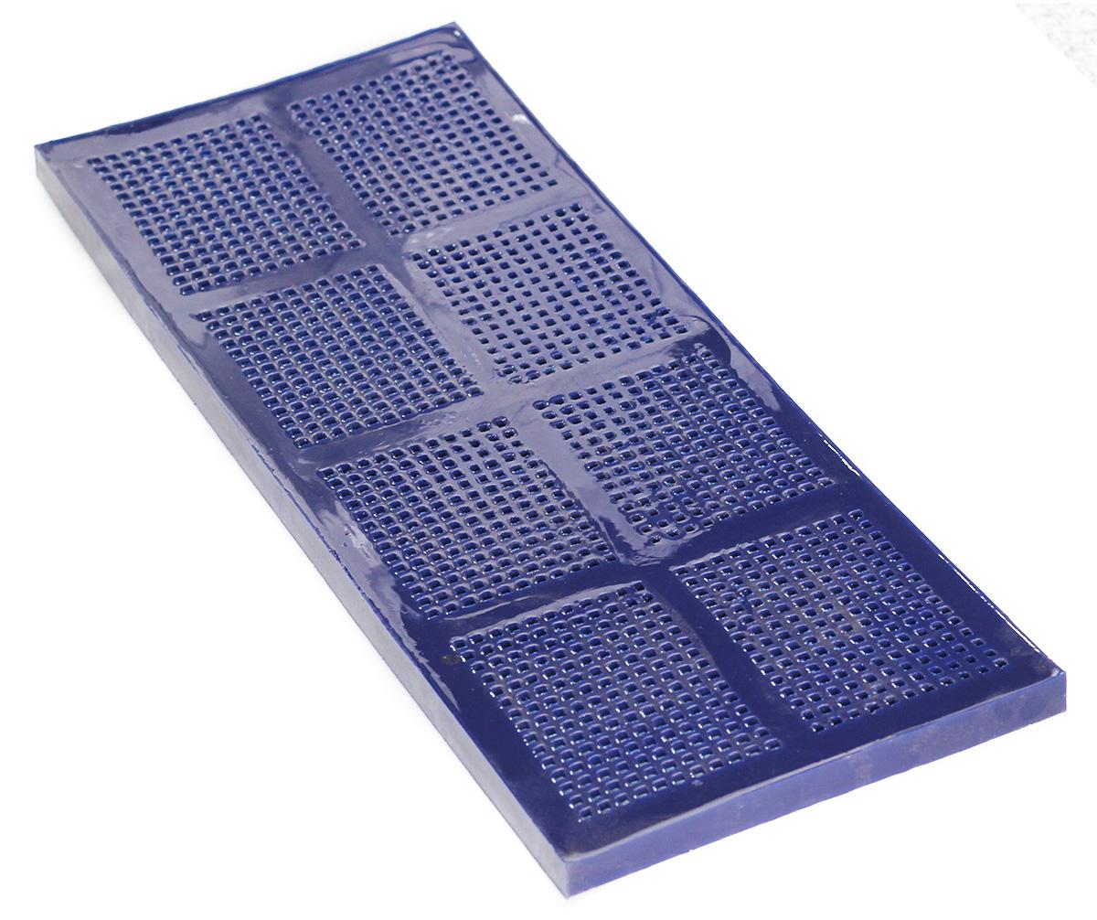 Сито полиуретановое с квадратной ячеей синее вид 2