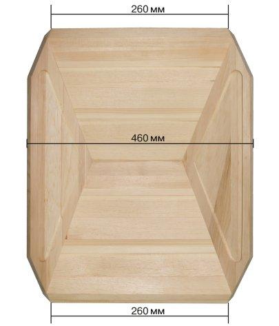 лоток деревянный заказной ширина 460