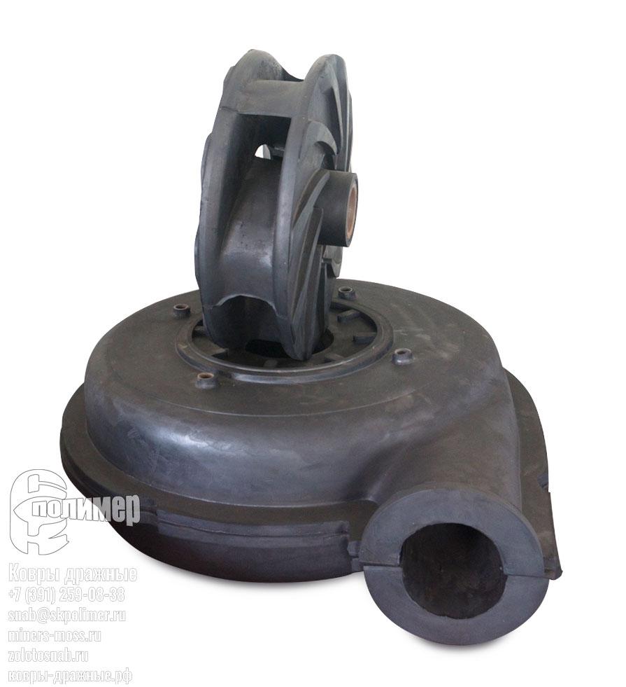 футеровка насоса и рабочее колесо