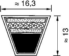 Ремень приводной клиновой узкого сечения SPB-4750