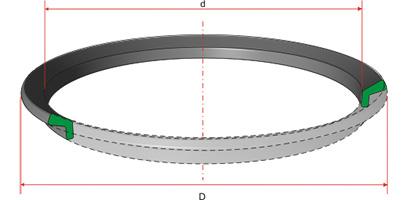 Кольцо (пыльник) резиновое 220-2-0-7 на СМД-16Д