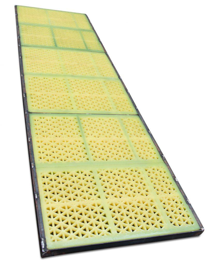 Полиуретановое сито для ГИЛ 52-2: 500 х 1750 мм с размером ячей 10 мм