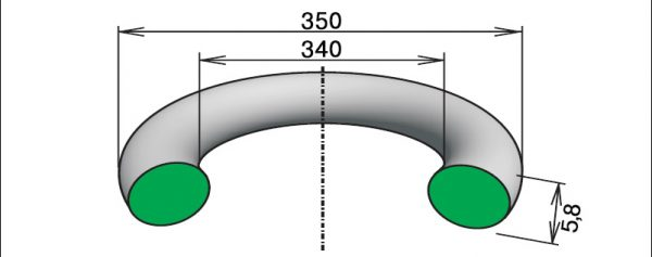 Кольцо 340-350-58 для конусной дробилки КСД-1200
