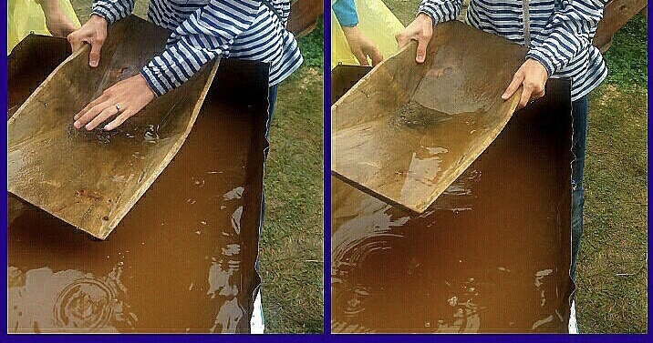 Добыча золота с помощью деревянных лотков сибкрасполимер
