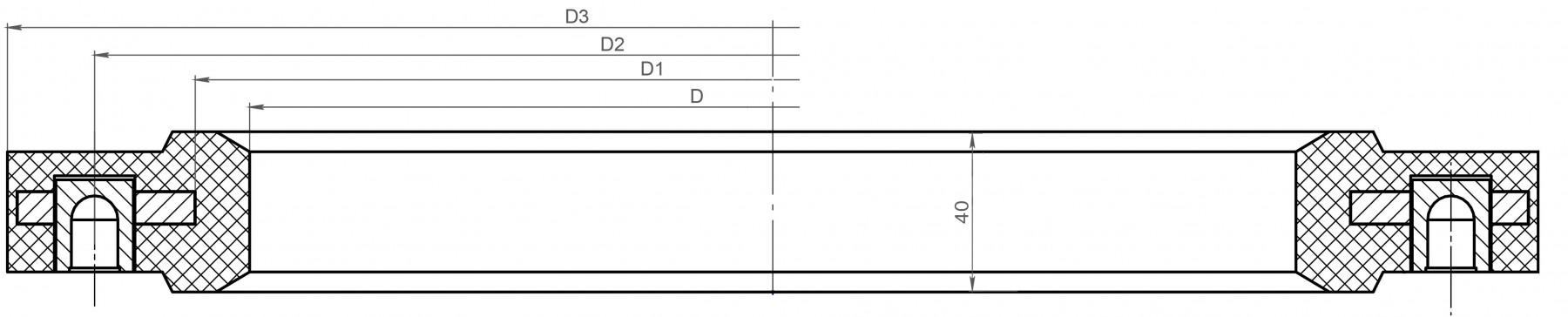 седло для пробки флотомашины в разрезе чертеж