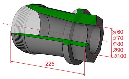 насадка гидроэлеватора ГЭ 170/350