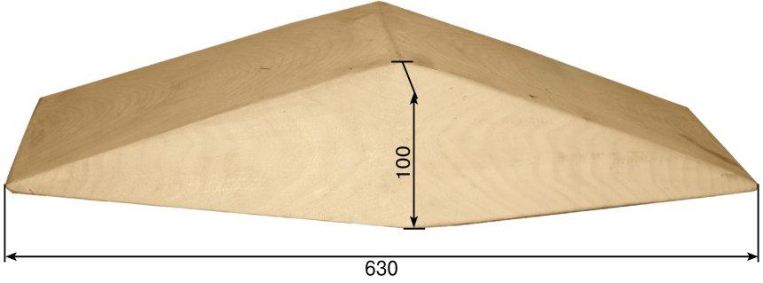оборотная сторона лотка деревянного