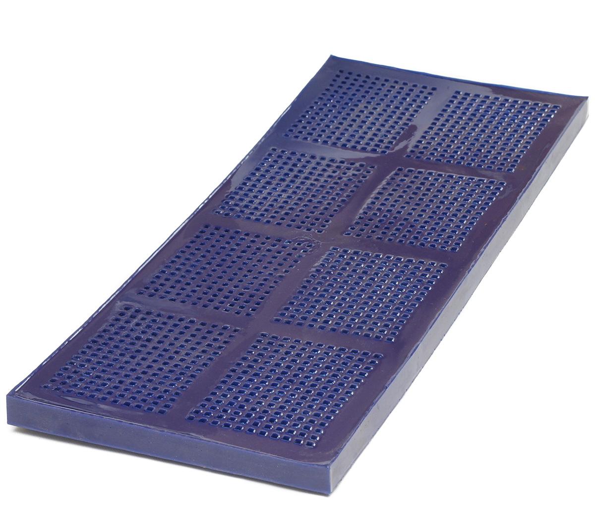 Сито полиуретановое с квадратной ячеей синее