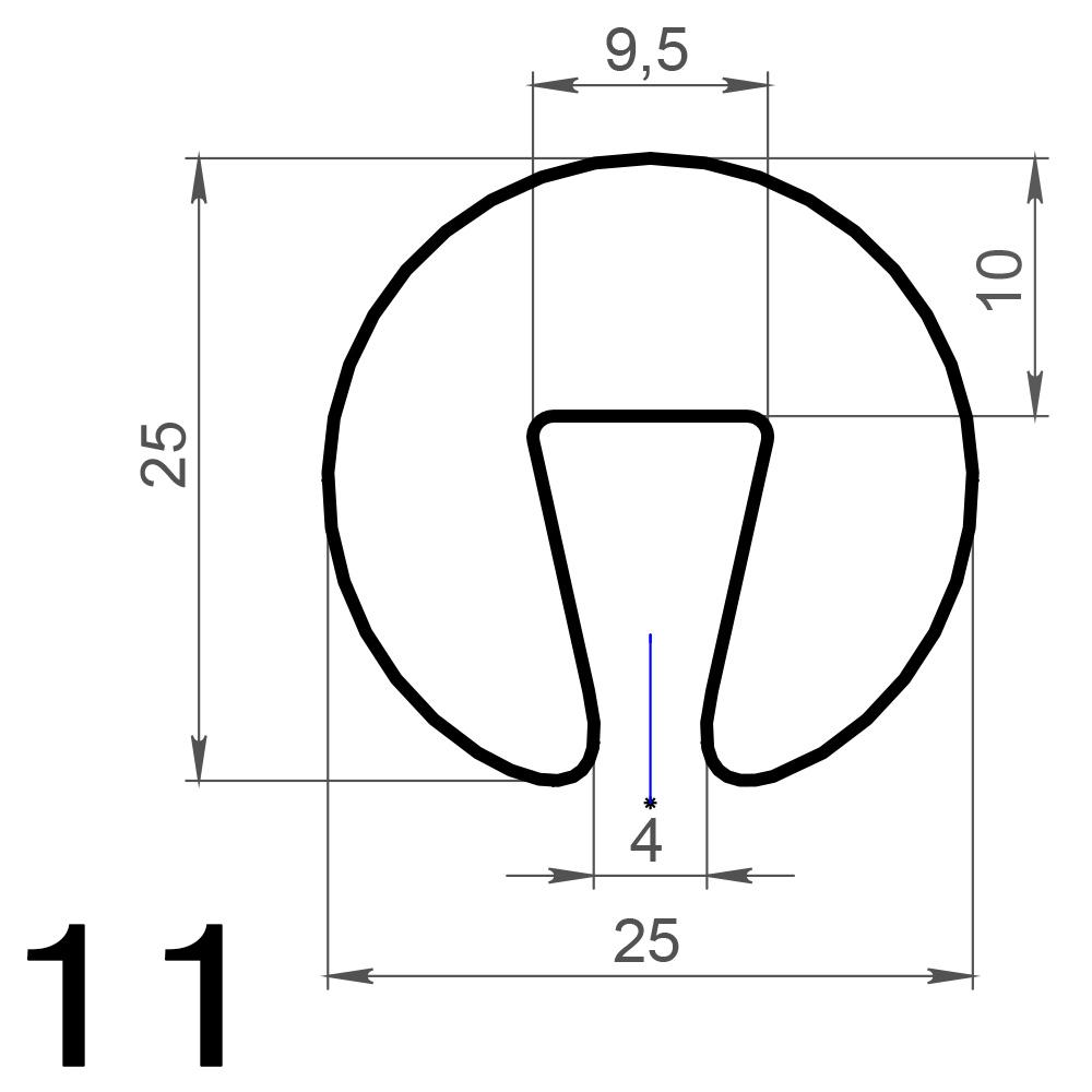 Профиль на подситник круглый