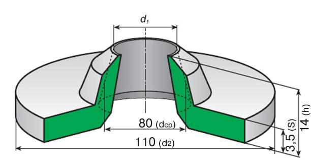 Воротник резиновый уплотнительный Воротник-80 ГОСТ 6678-53